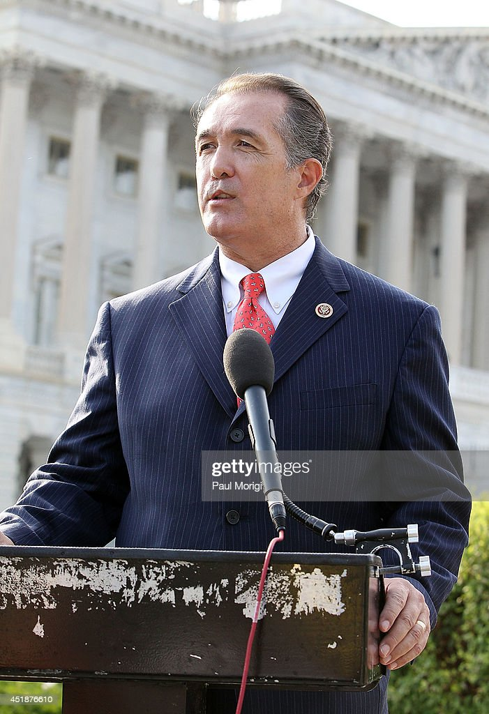 Rep. <a gi-track='captionPersonalityLinkClicked' href=/galleries/search?phrase=Trent+Franks&family=editorial&specificpeople=703239 ng-click='$event.stopPropagation()'>Trent Franks</a>, R-Ariz., makes a few remarks at a press conference to raise awareness of cleft lip and palate treatments on July 8, 2014 at the U.S. Capitol Building in Washington, D.C.
