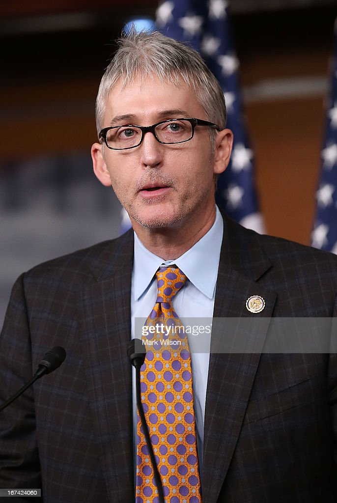 Rep. <a gi-track='captionPersonalityLinkClicked' href=/galleries/search?phrase=Trey+Gowdy&family=editorial&specificpeople=7778386 ng-click='$event.stopPropagation()'>Trey Gowdy</a> (R-SC) speaks about immigration during a news conference on Capitol Hill, April 25, 2013 in Washington, DC. The news conference was held to discuss immigration control issues that are before Congress.
