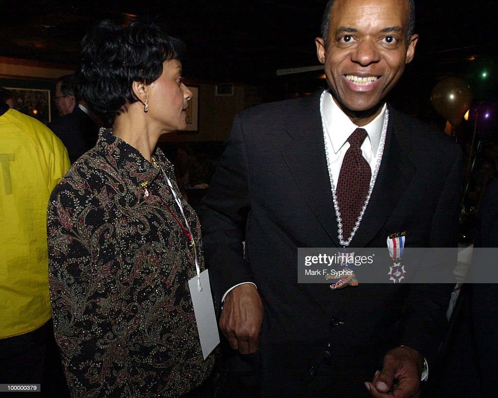 Rep. William J. Jefferson (D-LA) makes the rounds with his beautiful wife Andrea at Ruth's Chris Steak House, in DuPont Circle at the Mardi Gras kick-off party on Thursday night.