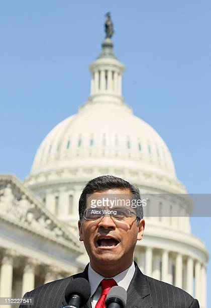 S Rep Xavier Becerra speaks during a news conference April 15 2011 on Capitol Hill in Washington DC House Democrats called on the Republicans not to...