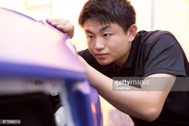 Repair car shell