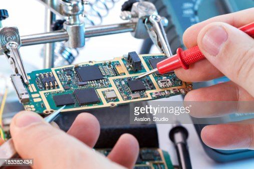 Repair mobile phone by a service