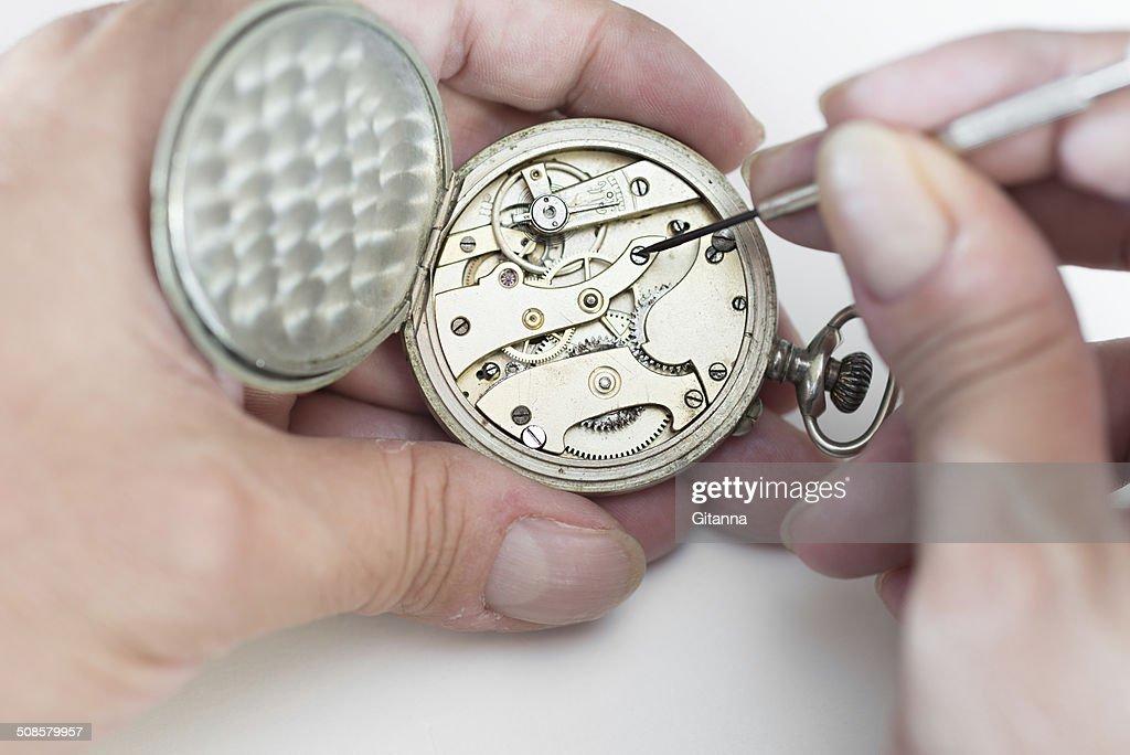 Riparazione di orologi : Foto stock