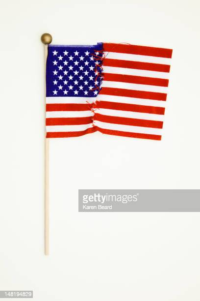 Repaired American flag