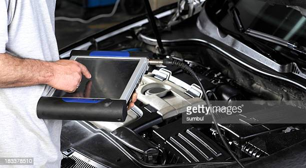 Repairing Car with Computer