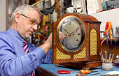 Repairing mantel clock