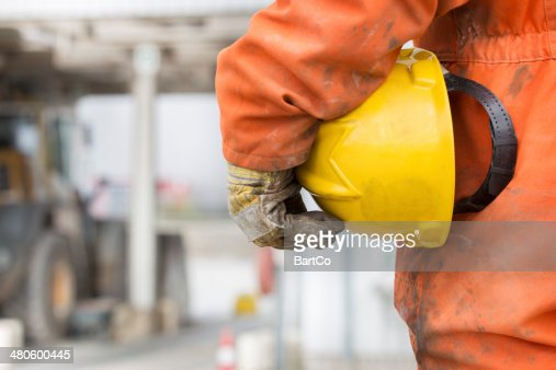 Repairman and mechanic at work with his tools. : Stock Photo