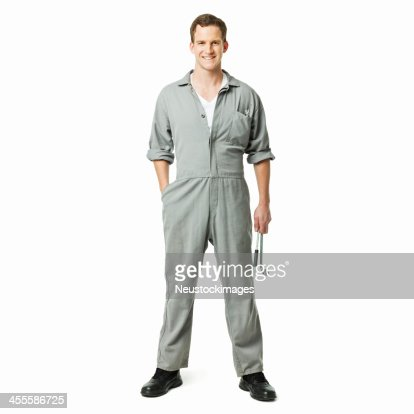 Repairman in Coveralls - Isolated