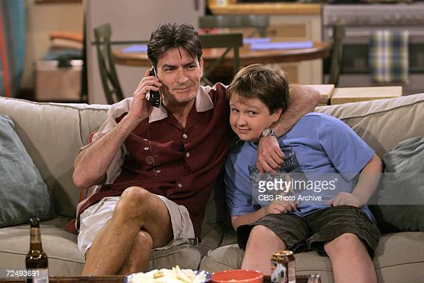 'Repeated Blows to His Unformed Head' Charlie hangs out with his nephew Jake on TWO AND A HALF MEN scheduled to air on the CBS Television Network