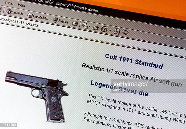 A replica Air soft gun which can be purchased on the Inernet January 6 2003 in London British Home Secretary David Blunkett has confirmed plans to...