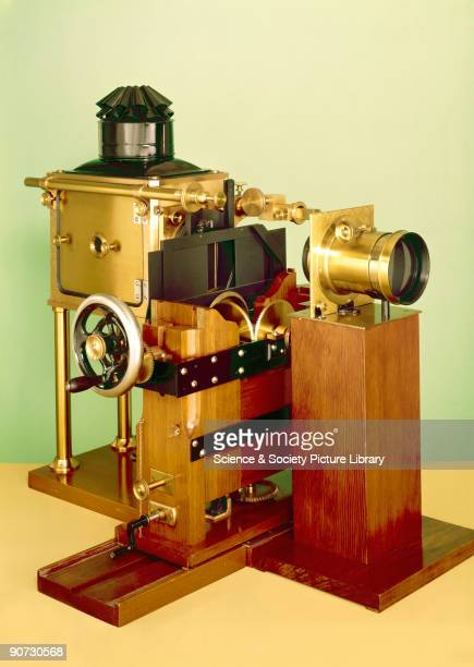 Replica Eadweard Muybridge designed the Zoopraxiscope in 1879 to project upon a screen a cycle of natural human and animal movements from a series of...