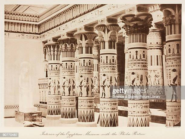 Ancient Egyptian Interior Architecture ferrovitreous structures stock photos and pictures | getty images