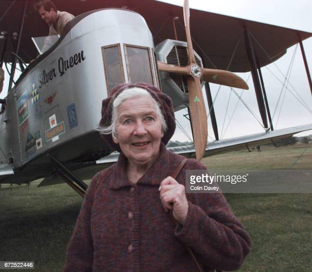 A replica of a 1918 Vickers Vimy aircraft at Brooklands Airfield United Kingdom prior to a flight to South Africa 12th April 1999 Mary Brand the...