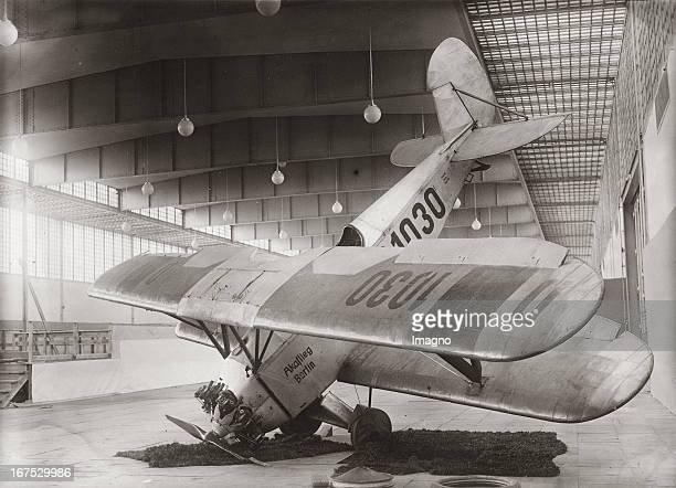 Replica of a crashed aeroplane from type D1030 on the German aviation exhibition in the exhibition halls at Kaiserdamm in Berlin September 20th 1932...