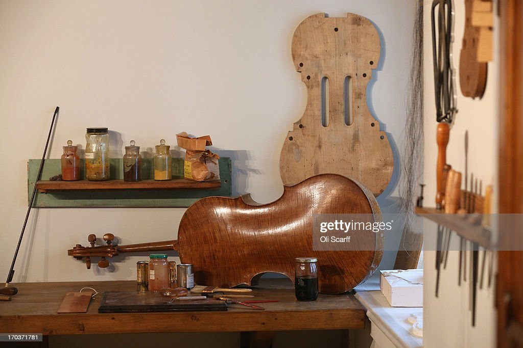 A replica of Antonio Stradivari's workshop on display in the exhibition 'Stradivarius' at the Ashmolean museum on June 12, 2013 in Oxford, England. The exhibition, which is the first major show of Stradivarius instruments in the UK, brings together 21 violins and cellos and runs until August 11, 2013.