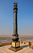 replica ashoka pillar at chaitya bhoomi