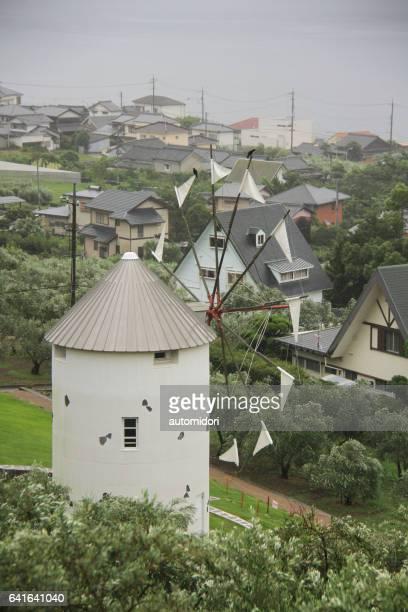 A Replica of Greek Windmill at Shodoshima Olive Park on Shodo Island