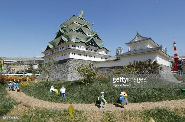 A replica of Nagoya Castle made with Lego bricks is on display at Legoland Japan in the central Japan city of Nagoya in this photo taken March 17...