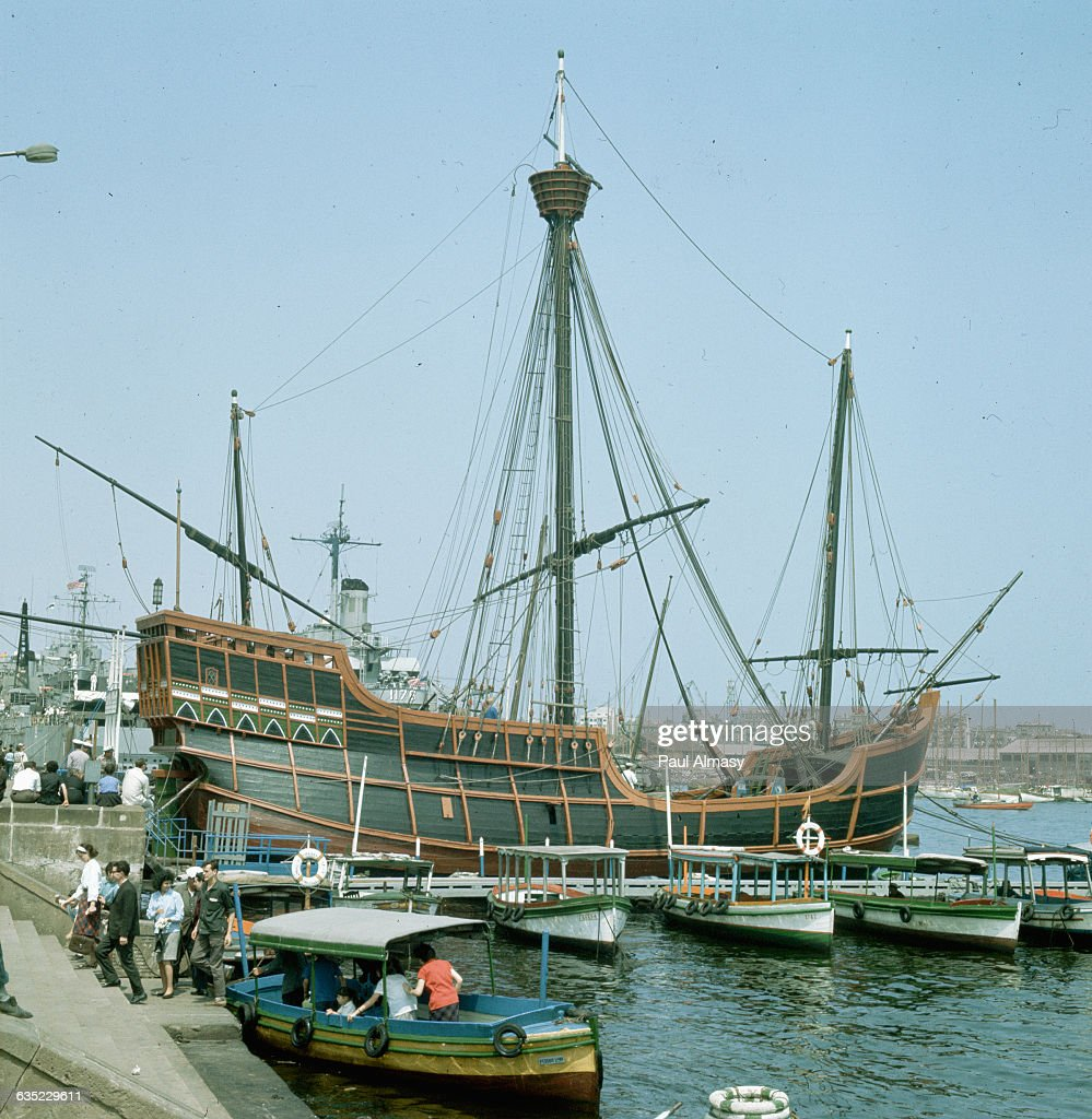 replica of columbus u0027 ship pictures getty images