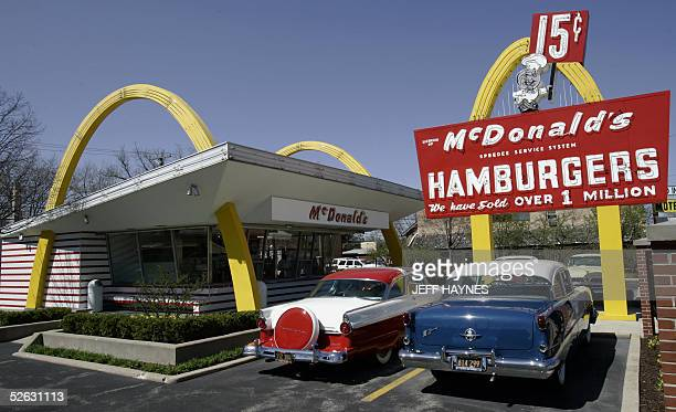 A replica of Ray Kroc's first McDonald's franchise 14 April acts as a museum in Des Plaines Illinois as the McDonalds Corporation is celebrating its...