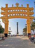 replica sanchi gate at chaitya bhoomi