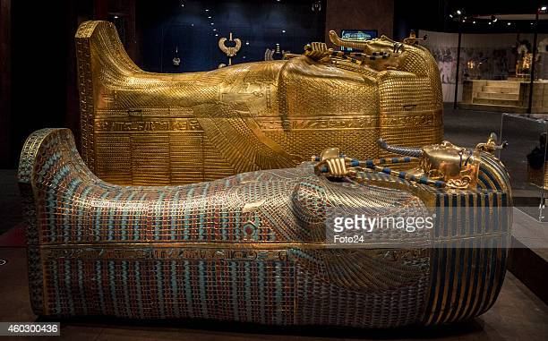 A replica of the art effect from the Tutankhamun tomb at the Silverstar Casino on December 2 2014 in Krugersdorp South Africa The internationally...