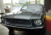 A replica of the Ford Mustang that Steve McQueen drove in 'Bullet' is on display at the screening of TCM's documentary 'Steve McQueen The Essence of...