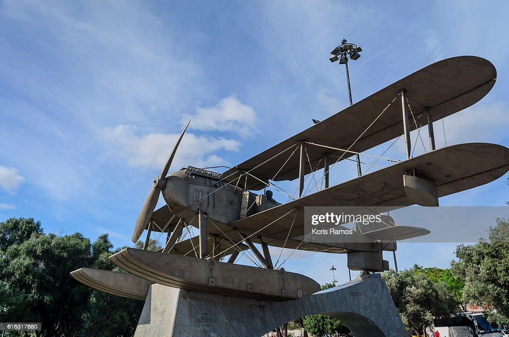 Replica of the Gago Coutinho and Sacadura Cabral Airplane : Stock Photo