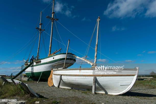Replica of the James Caird the lifeboat of the Endurance Sir Ernest Shackleton used in 1916 to sail from Elephant Island to South Georgia with the...