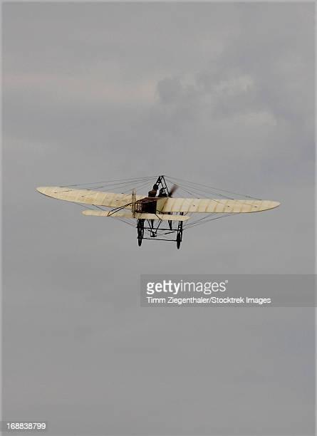 Replica of the Wright Flyer in flight over Czech Republic.