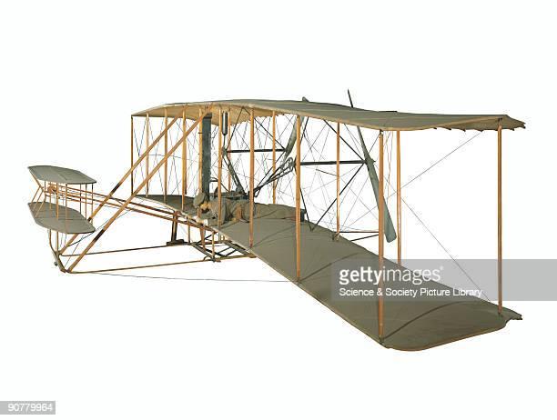 Replica Orville Wright and his brother Wilbur were selftaught American aeroplane pioneers They developed a flying machine and learnt to fly over...
