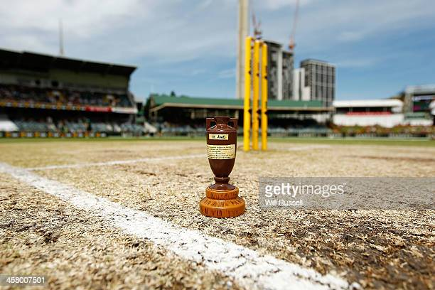 A replica Urn is seen during day four of the Third Ashes Test match between Australia and England at The WACA on December 16 2013 in Perth Australia
