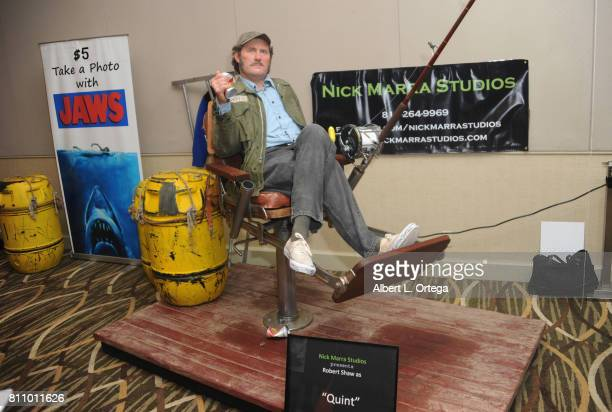 A replicant of actor Robert Shaw as Quint from 'Jaws' on display at The Hollywood Show held at Westin LAX Hotel on July 8 2017 in Los Angeles...