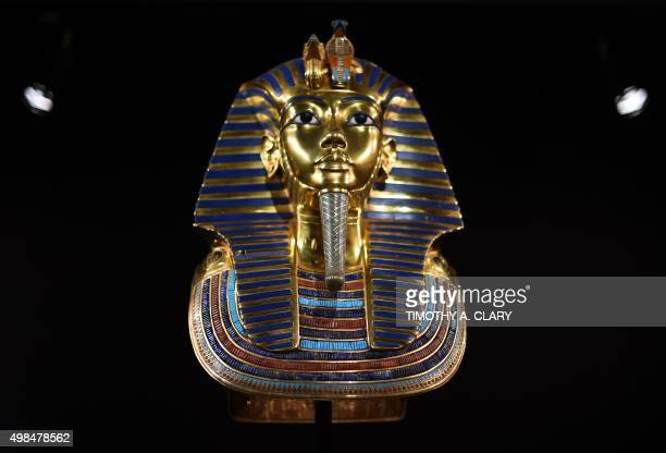 Replicas of Egyptian King Tutankhamuns magnificent burial goods are seen during a media preview of 'The Discovery of King Tut' at Premier Exhibitions...