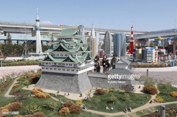 Replicas of Nagoya Castle and Tokyo Skytree are on display at Legoland Japan in the central Japan city of Nagoya in this photo taken March 17 2017...