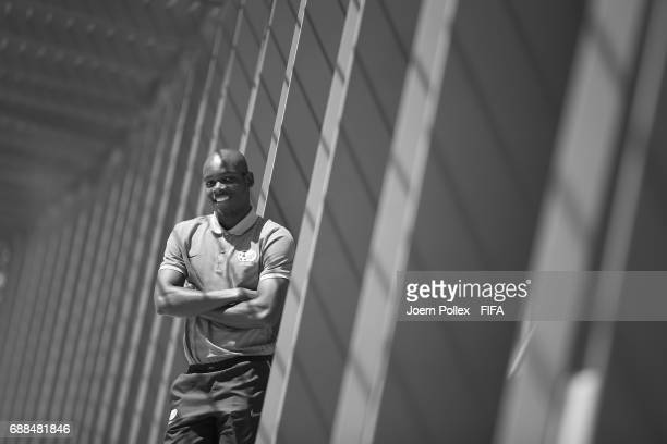 Repo Malepe of South Africa poses at Oakwood hotel on May 26 2017 in Incheon South Korea