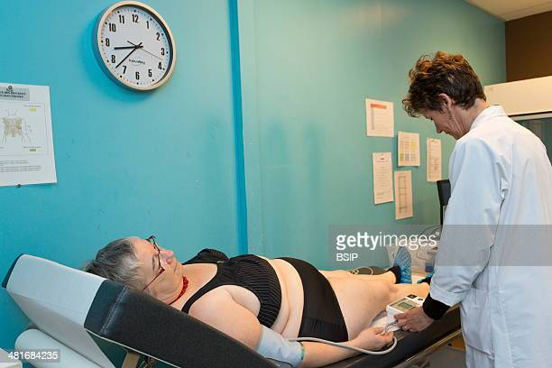 Reportage on the medical checkup process in the Health Education and Prevention Centre in Lille's Institut Pasteur in France A preclinical exam by a...