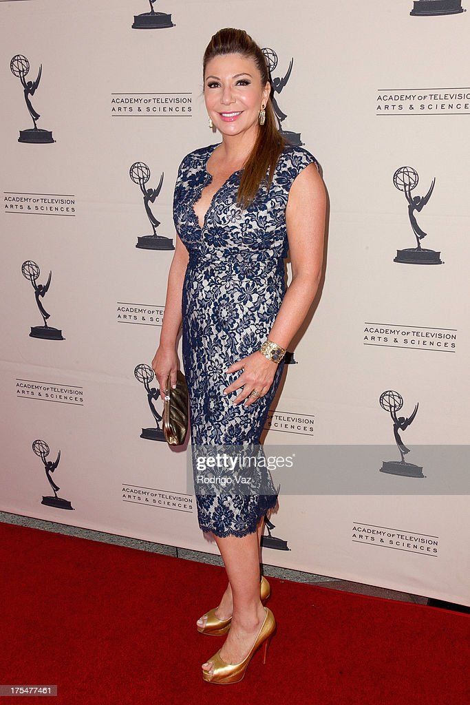 Reporter Ana Garcia arrives at the Academy of Television Arts & Sciences 65th Los Angeles Area Emmy Awards at Leonard H. Goldenson Theatre on August 3, 2013 in North Hollywood, California.