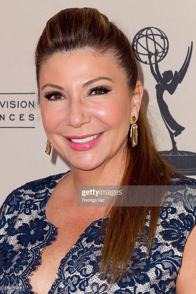 Reporter <a gi-track='captionPersonalityLinkClicked' href=/galleries/search?phrase=Ana+Garcia+-+Journalist&family=editorial&specificpeople=13536770 ng-click='$event.stopPropagation()'>Ana Garcia</a> arrives at the Academy of Television Arts & Sciences 65th Los Angeles Area Emmy Awards at Leonard H. Goldenson Theatre on August 3, 2013 in North Hollywood, California.