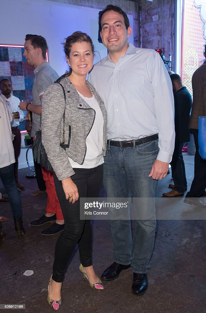 CNN reporter Brianna Keilar and Dave French pose for a photo during the 2016 CNN Correspondents' Brunch at the Longview gallery in Washington, DC on May 1, 2016.