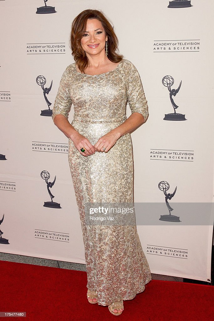 Reporter Cecilia Bogran arrives at the Academy of Television Arts & Sciences 65th Los Angeles Area Emmy Awards at Leonard H. Goldenson Theatre on August 3, 2013 in North Hollywood, California.