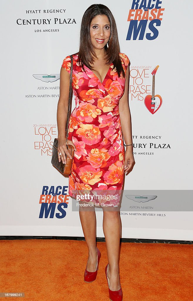 Reporter Christine Devine attends the 20th Annual Race to Erase MS Gala 'Love to Erase MS' at the Hyatt Regency Century Plaza on May 3, 2013 in Century City, California.