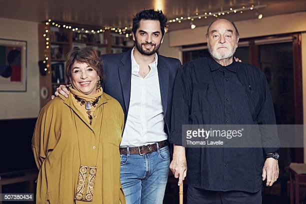 Reporter Diego Bunuel and his parents are photographed for Gala on January 18 2016 in Paris France