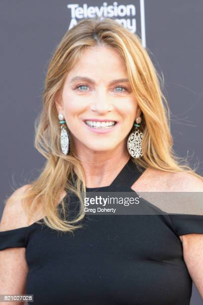 Reporter Dorothy Lucey arrives for the 69th Los Angeles Area Emmy Awards at Television Academy on July 22 2017 in Los Angeles California