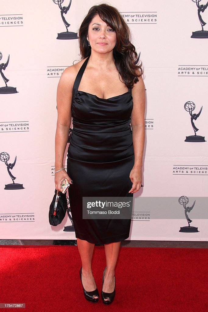 TV Reporter Gina Silva attends the Academy Of Television Arts & Sciences 65th Los Angeles Area EMMY Awards held at the Leonard H. Goldenson Theatre on August 3, 2013 in North Hollywood, California.