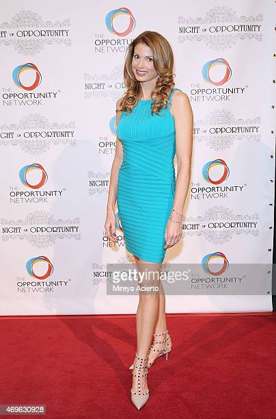 NBC reporter Jennifer Maxfield Ostfeld attends the '8th Annual Night of Opportunity Gala' at Cipriani Wall Street on April 13 2015 in New York City