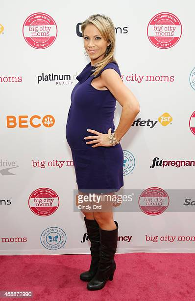 Reporter Jill Nicolini attends Big City Moms Biggest Baby Shower Ever at the Metropolitan Pavilion on November 12 2014 in New York City
