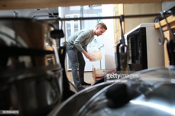 TORONTO ONTARIO DECEMBER 29 2015 Reporter Jonathan Forani is applying advice from an expert organizer to 'declutter' his kitchen Examples of the good...