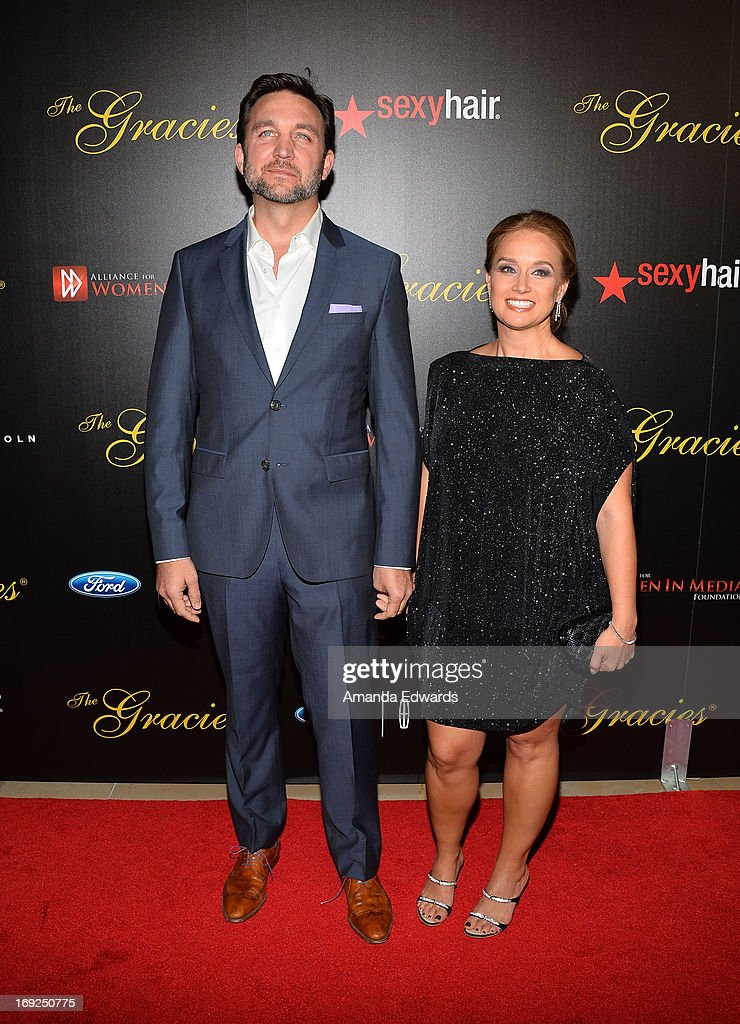 Reporter Josh Rushing (L) and news producer Jennifer Salan arrives at the 38th Annual Gracie Awards Gala at The Beverly Hilton Hotel on May 21, 2013 in Beverly Hills, California.