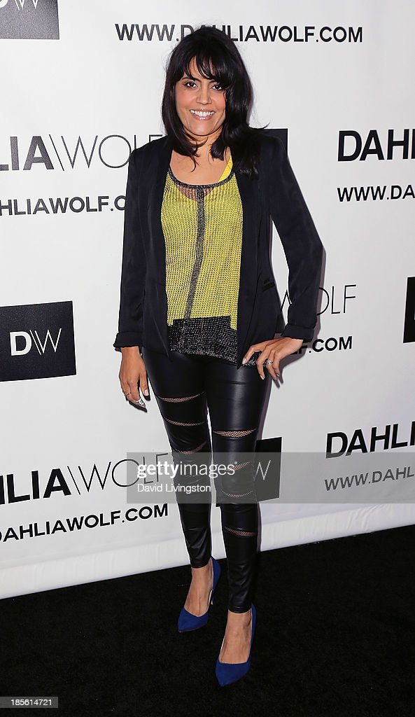 TV reporter Mar Yvette attends the Dahlia Wolf Launch Party at the Graffiti Cafe on October 22, 2013 in Los Angeles, California.